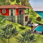 Lake Como with land