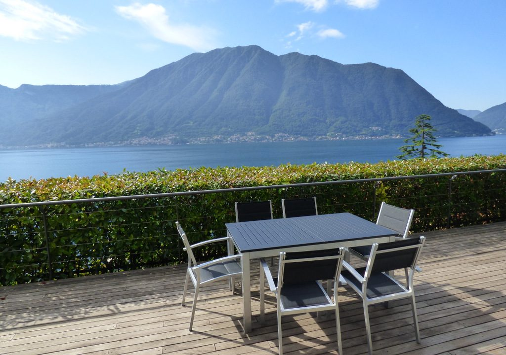 Terrace with lake view