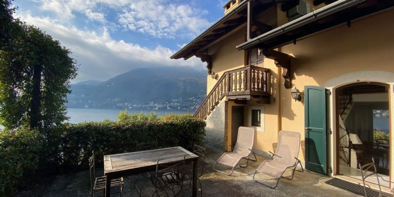 Villa Front Lake Como with Boat Place Torno - terrace