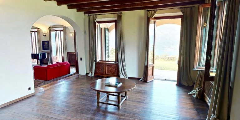 Luxury Villa Lake Como Mandello del Lario wooden floors