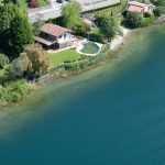 Detached Villa Front Lake Abbadia Lariana with Garden