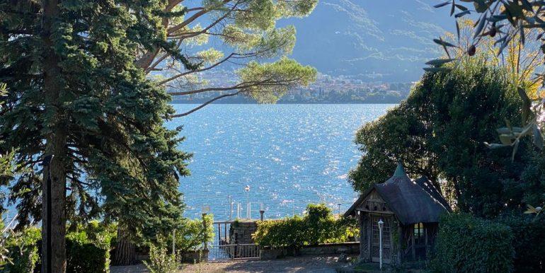Lake Como Villa Oliveto Lario Front Lake with Boathouse -view