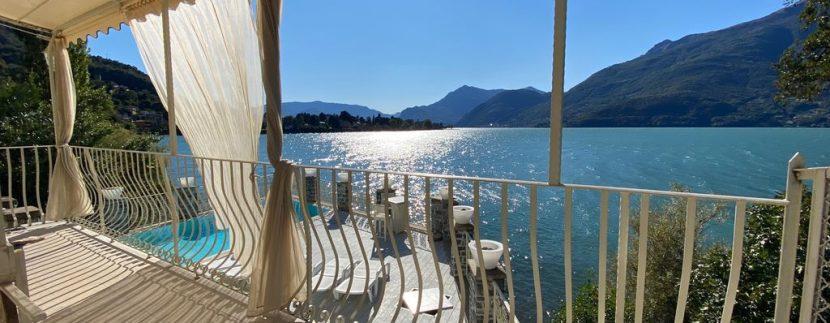 Villa Front Lake Como Dervio  - terrace