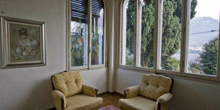 Lake Como Villa Oliveto Lario Front Lake - sitting room