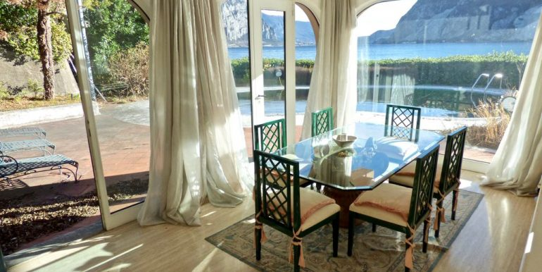 Villa Front Lake Abbadia Lariana Lake Como dining room