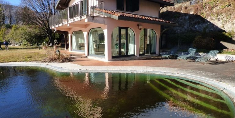 Villa Front Lake Abbadia Lariana Lake Como Pool and Garden
