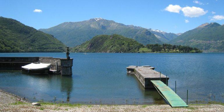 Villas Front Lake Como Colico with Boathouse pier