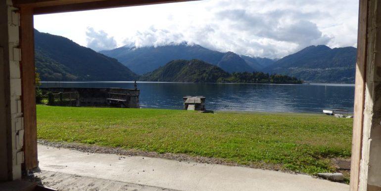 Villas Front Lake Como Colico with Boathouse with garden