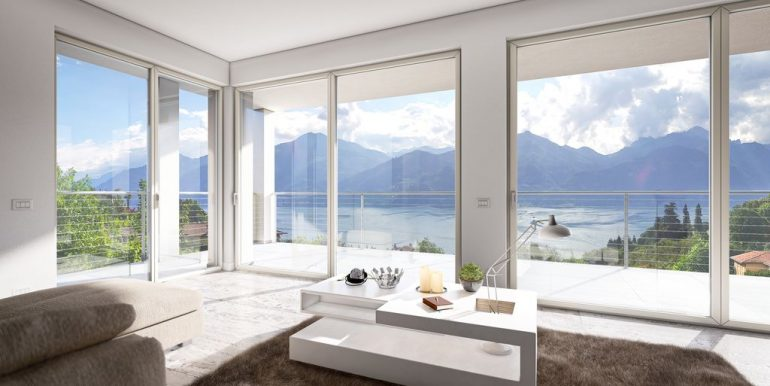 Lake Como Menaggio New Modern Villas - living room