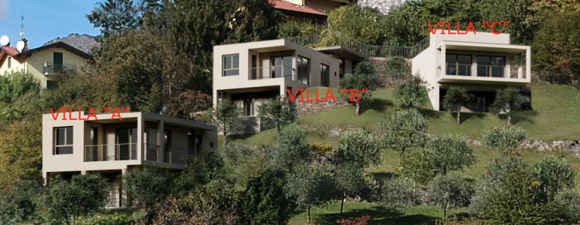 Lake Como Menaggio New Modern Villas - terrace